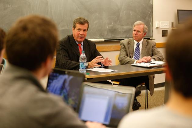 Mayor Karl Dean (left) and Bill Purcell (John Russell/Vanderbilt)