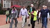Mayor leads campus walk with faculty and staff