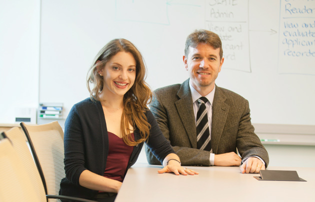 Molly Jackman and Saul Jackman, assistant professors of political science