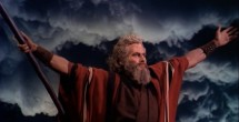 "Still image of Moses from ""The Ten Commandments"""