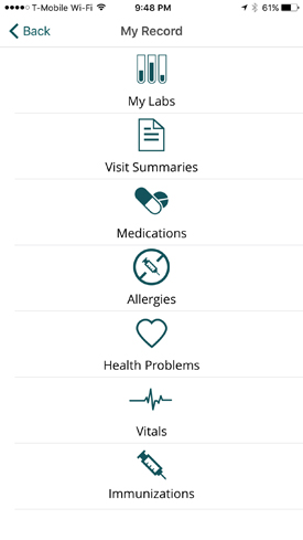 A newly launched mobile app will help My Health at Vanderbilt users easily access their health information.