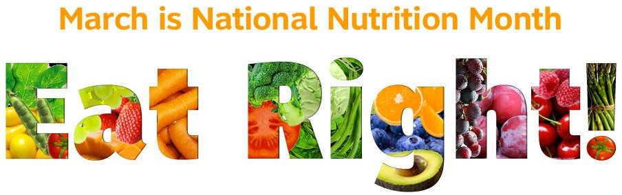 Image result for march is national nutrition month 2019