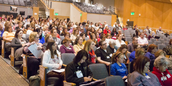 Vanderbilt's biennial Nursing Staff Bylaws Convention lets nurses make shared decisions in updating the document that governs how they do their daily work and practice. (photo by Susan Urmy)