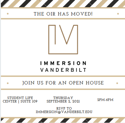 OIR Open House Sept. 2