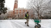 Employees step up to battle winter weather on campus