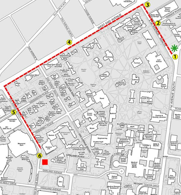 Campus safety walk April 6; Take Vanderbilt Active Transportation ...