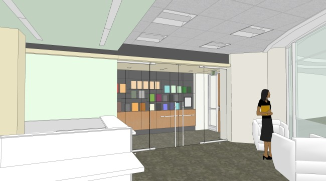 Architect's rendering of new political science department