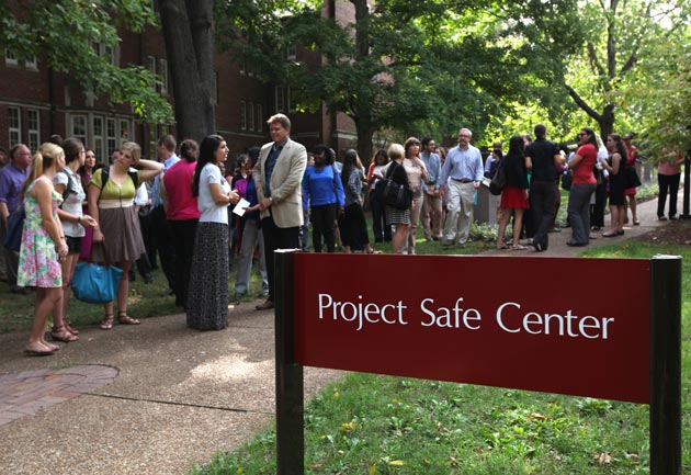 The Project Safe Center celebrated its opning at the historic Cumberland House on West Side Row Sept. 10, 2014. (Anne Rayner/Vanderbilt)