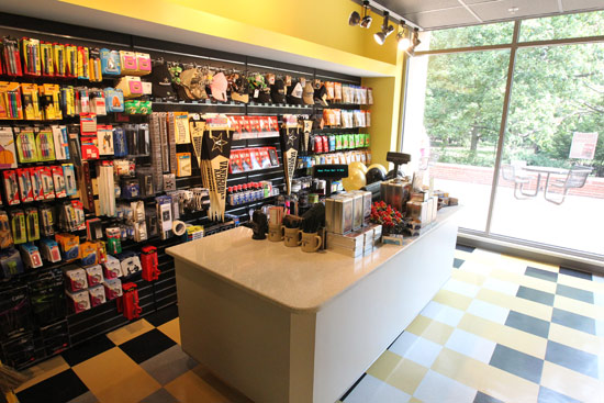 The relocated campus store at Rand Hall. (Steve Green/Vanderbilt)