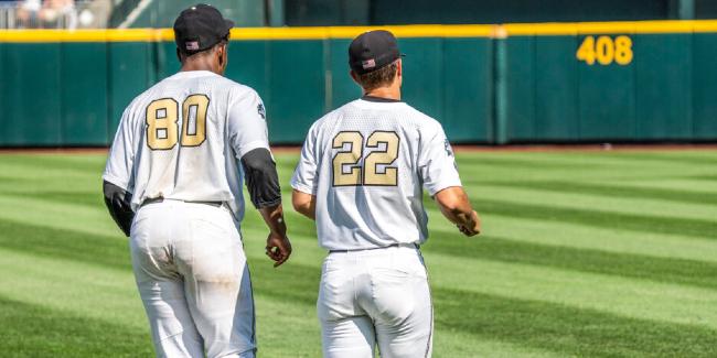 Vanderbilt pitchers Kumar Rocker (left) and Jack Leiter (right).