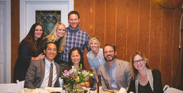 On hand at the Burney family's inaugural 'Hope Grows Here' fundraising event in Clarksville were (seated, from left) Truc Le, M.D., Hong Yu, M.D., Jay Wellons, M.D., Melissa Wellons, M.D., (standing from left) Crystal Carlisle, R.N., Haley Vance, DNP, Justin Burney and Laura Burney. (photo by Courtney Zenner)