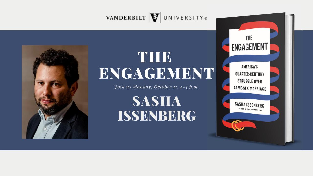 Register: Author Sasha Issenberg to discuss tumultuous legal fight for same-sex marriage in America