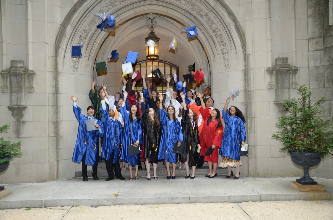 The first graduating class of the School for Science and Math