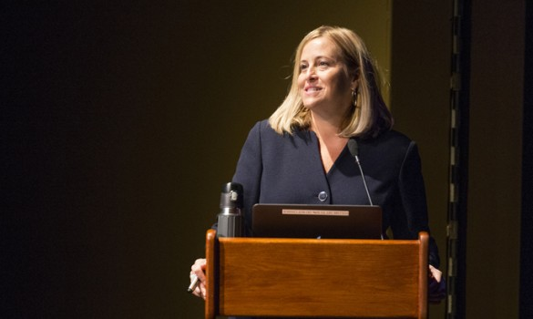 Nashville Mayor Megan Barry kicked off Monday's Science of Song Symposium. (photo by Joe Howell)
