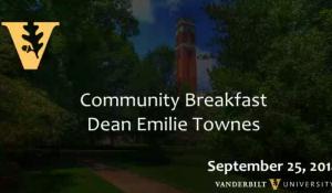 Vanderbilt Divinity School Breakfast: Dean Emilie Townes