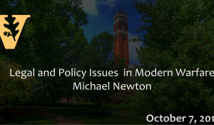 Osher Lifelong Learning: Legal and Policy Issues in Modern Warfare 10.7.15