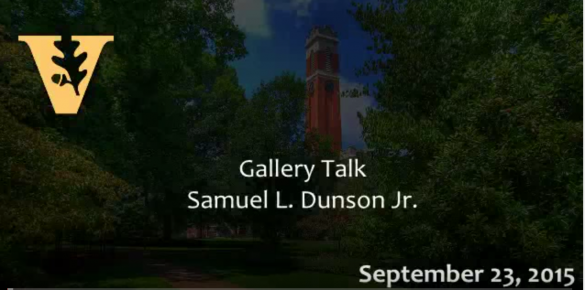Religion in the Arts and Contemporary Culture: Gallery Talk with artist, Samuel L. Dunson, Jr.