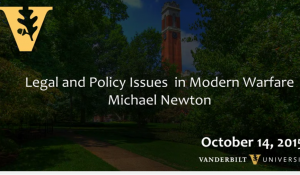 Legal and Policy Issues in Modern Warfare 10.14.15