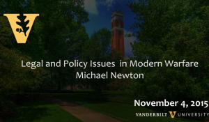 Legal and Policy Issues in Modern Warfare 11.4.15
