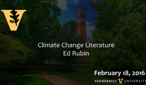 Climate Change Literature: A New Fictional Genre about a Real Problem 2.18.16