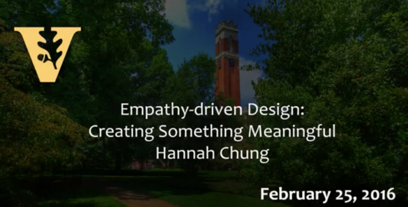 Hannah Chung – Empathy-driven design: Creating something meaningful
