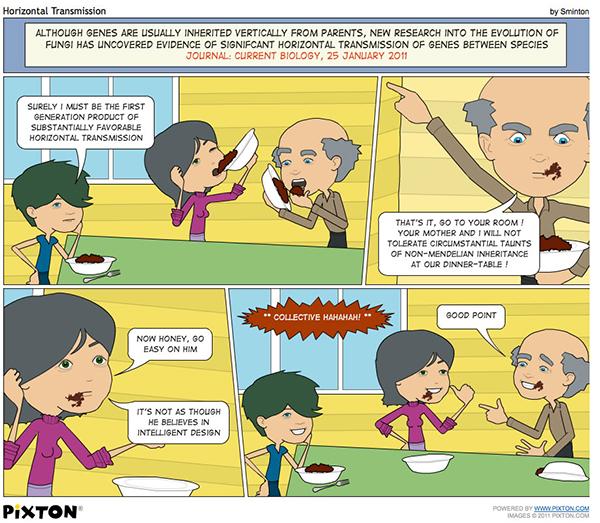 "Sminton webcomic ""Horizontal Transmission"""