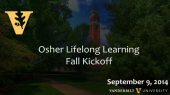 Osher Lifelong Learning Fall Kickoff