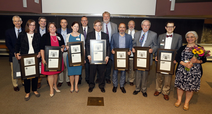 Faculty meeting recognizes excellence in education, research