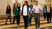 Senior Leader Walk brings chancellor, mayor to VRWC