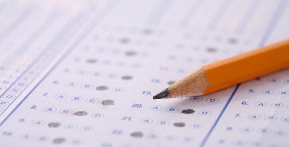 Standardize test bubble sheet