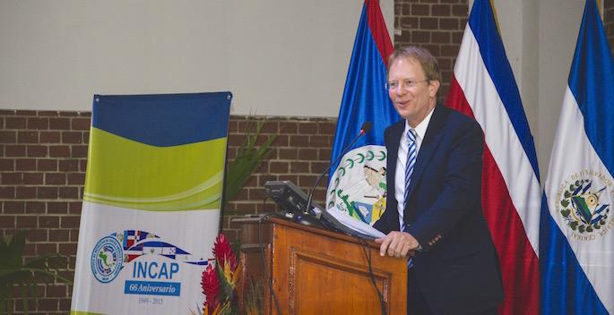 Ted speaking at podium