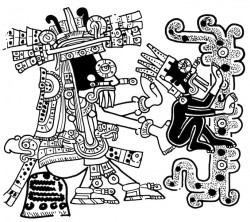 Tlaloc with child