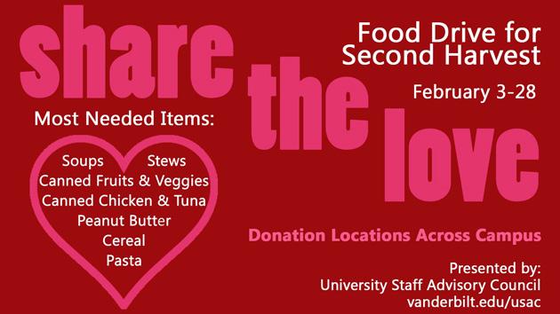 Food Drive Vanderbilt News Vanderbilt University