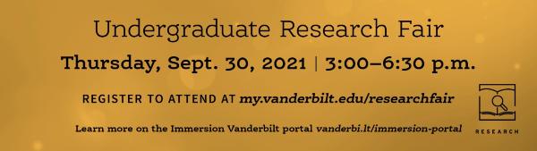 Undergraduate Research Fair Sept. 30