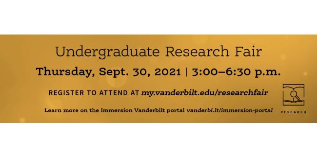 Vanderbilt Undergraduate Research Fair is Sept. 30