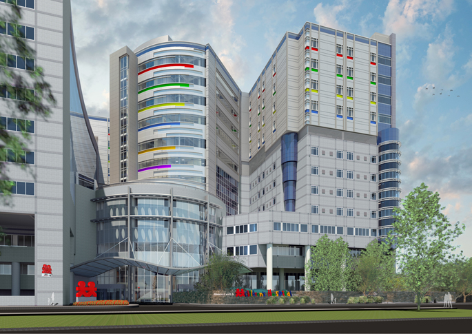 Rendering of the new construction at Monroe Carell Jr. Children's Hospital at Vanderbilt.