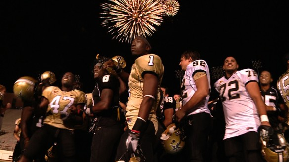 VUCast: Fans, fireworks and football