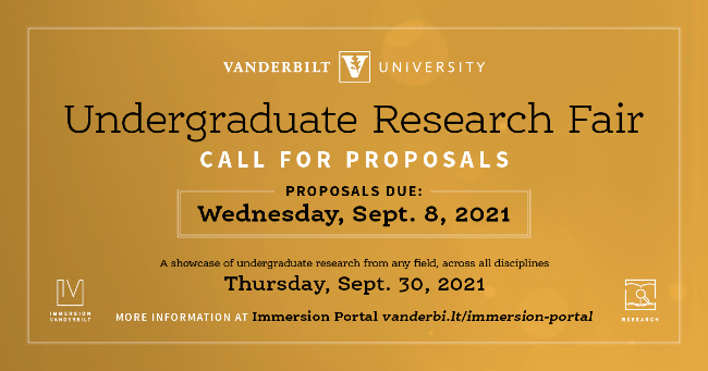 Undergraduate Research Fair Call for Proposals fall 2021