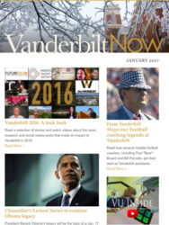 """""""Vanderbilt Now"""" won a Gold award in the Newsletter, Electronic category."""