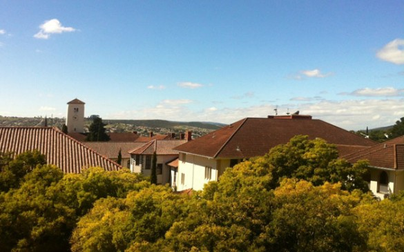 View from the library of Rhodes University in Grahamstown, South Africa.