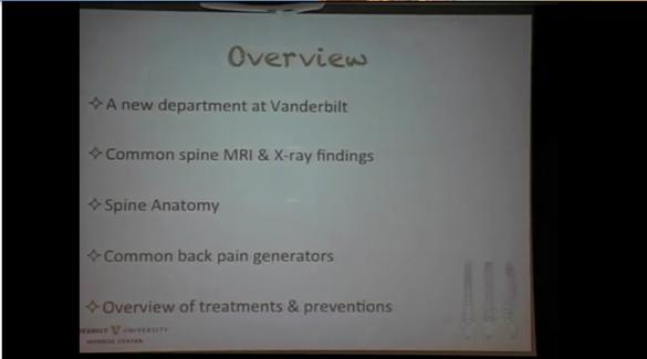 """Dr. Gina Walton: """"The Pathology of Common Back Pain"""""""