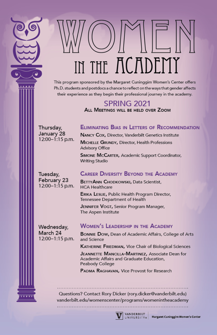 Women in the Academy Spring 2021
