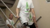 Amputee sets stair climbing record with Vanderbilt prosthetic leg