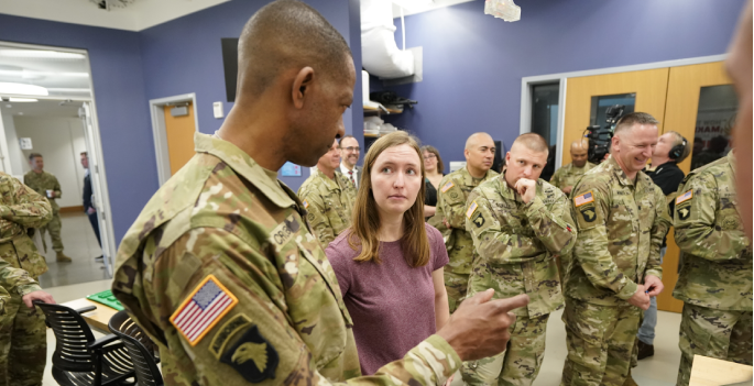 Army Future Commands: Agreement Signing and Tour at Engineering Science Building (Vanderbilt University)