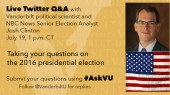 Political scientist, NBC election analyst hosts Twitter Q&A July 19
