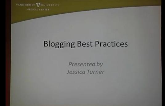 DigitalVU: Blogging best practices