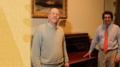 Great-grandson of Chancellor Kirkland visits campus