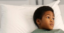 hospitalized African American child