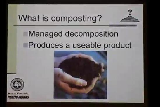 "Green Bag Luncheon Series: ""Backyard Composting"""