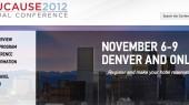 EDUCAUSE conference streamed live, Nov. 6-9